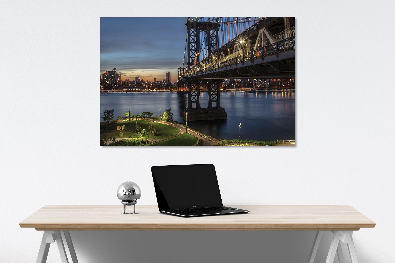 Manhattan Bridge canvas on wall