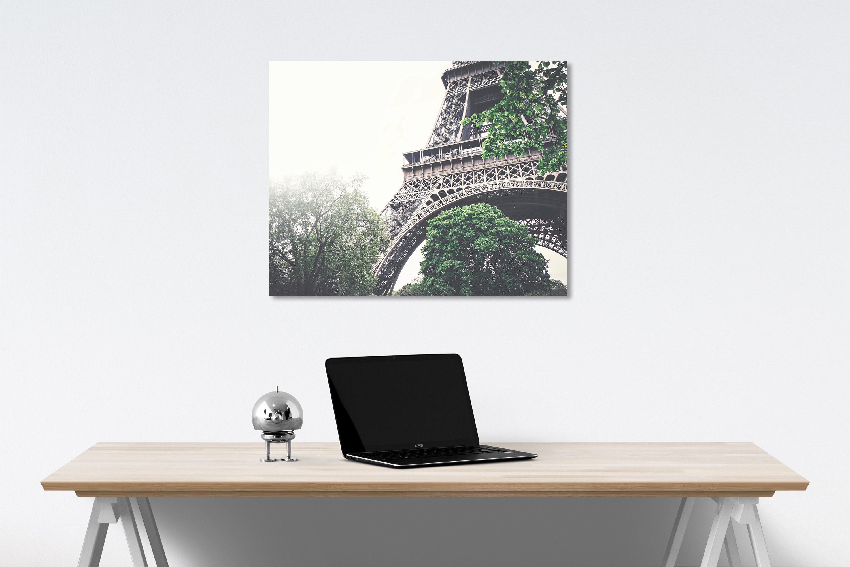 Eiffel tower canvas on wall