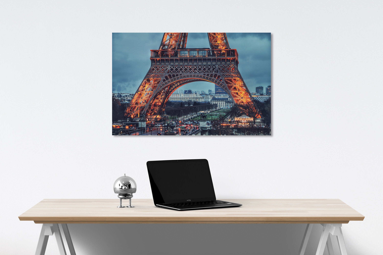 Paris canvas on wall