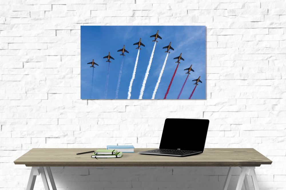 Planes in the sky canvas on wall