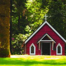 red church canvas