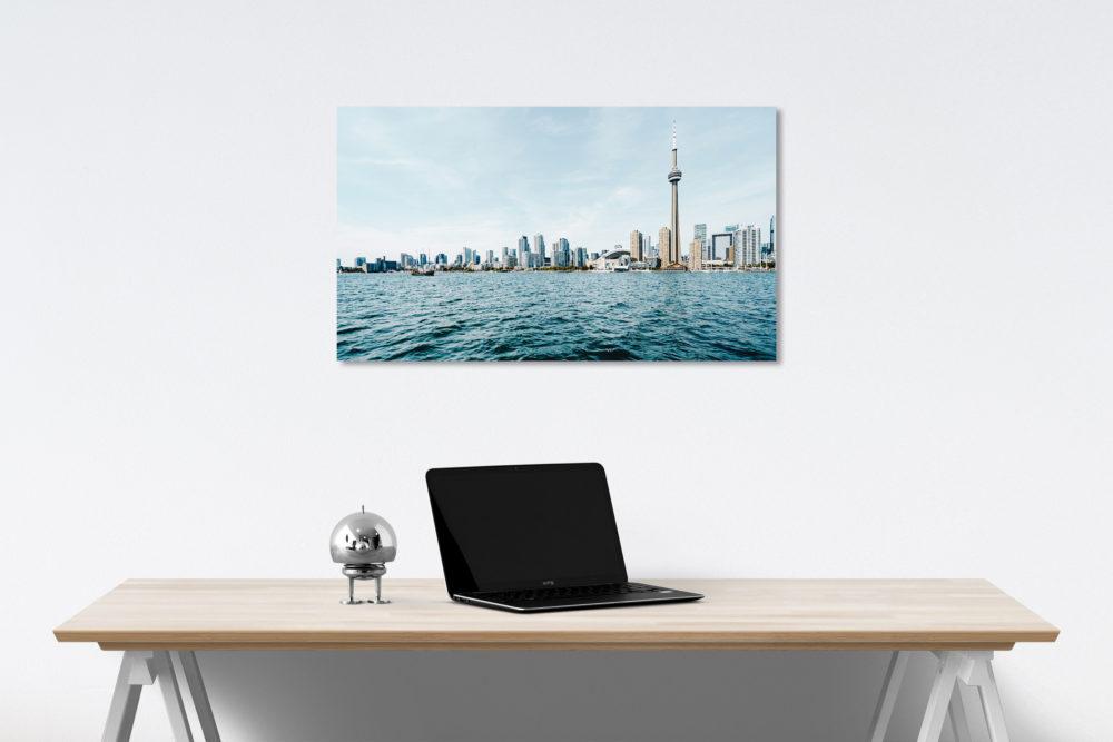 city skyline canvas on wall