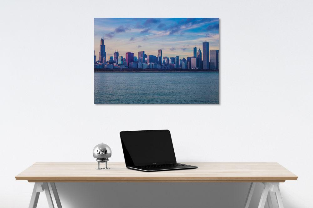 City Skyline Canvas on a Wall