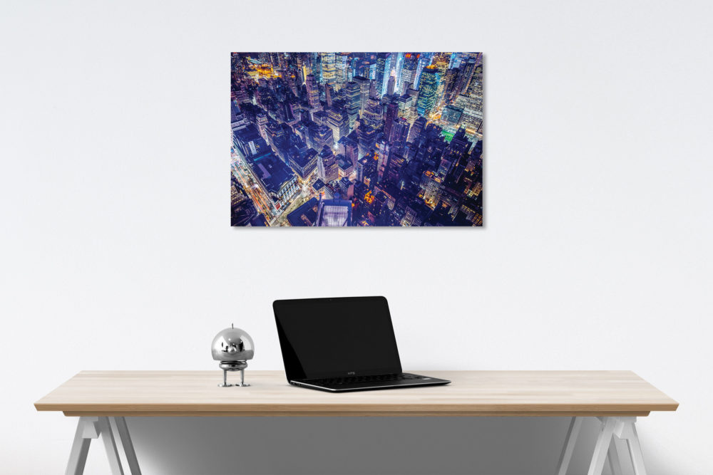 Aerial City View canvas on wall