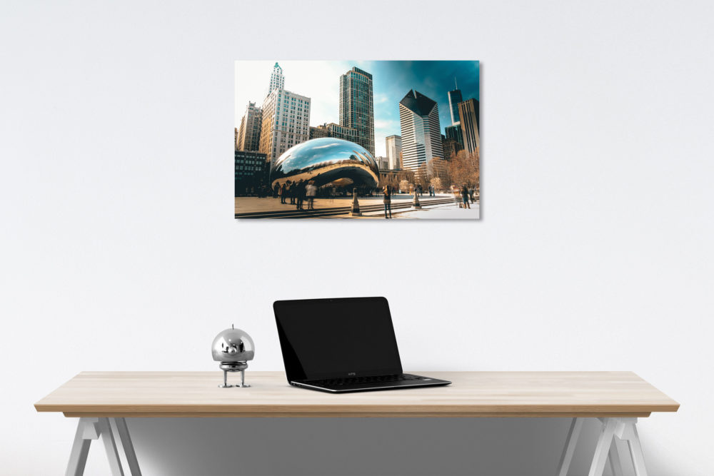 Chicago skyline canvas on wall