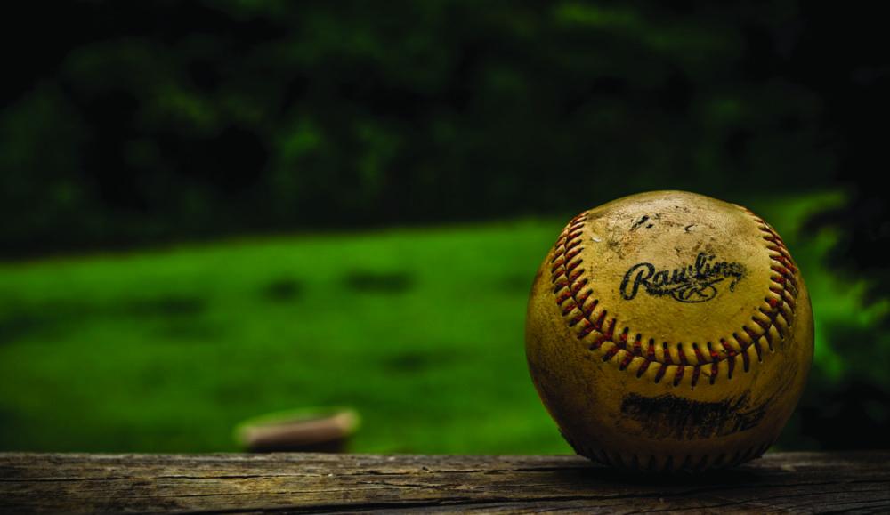 Baseball with green
