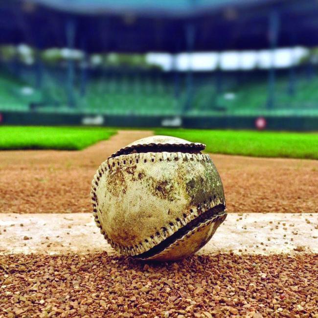 Old Baseball on field