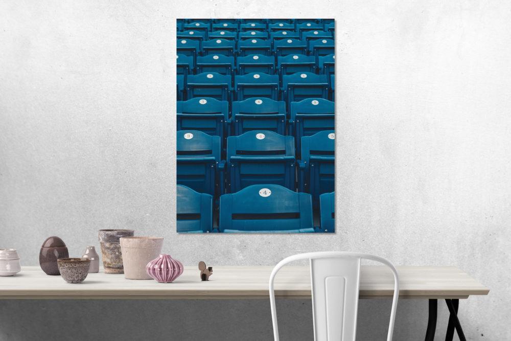 Blue Stadium Seats Canvas on Wall