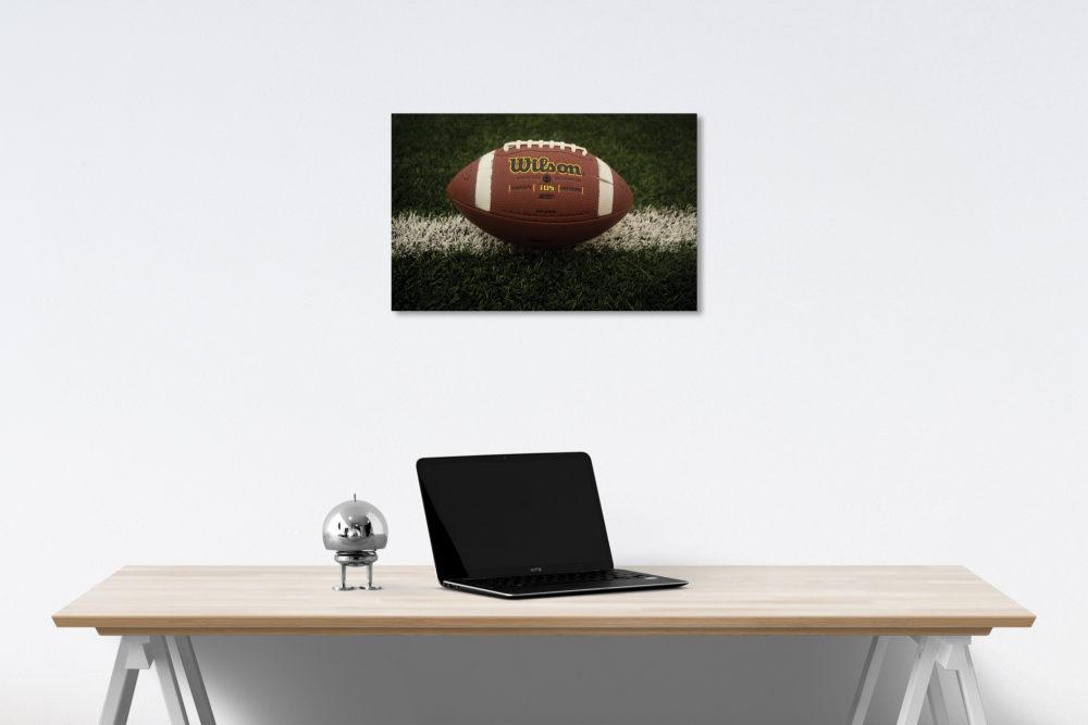 Football on Field Canvas on Wall