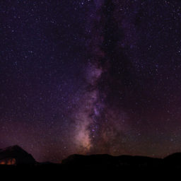 Stock Photograph of Violet Sky with Stars